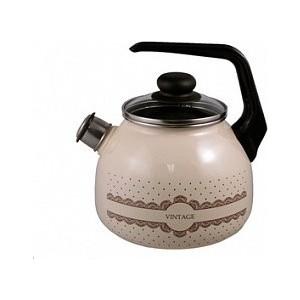 Чайник эмалированный 3.0 л со свистком Appetite Vintage (4с209я) чайник эмалированный со свистком 3 0 л appetite citrus 4с209я