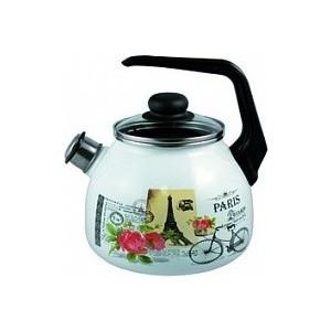 Чайник эмалированный 3.0 л со свистком Appetite Париж (4с209я) чайник эмалированный со свистком 2 5 л metrot таково кухня 115432