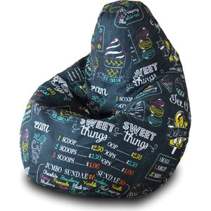 Кресло-мешок Груша Пазитифчик Айскрим 04 мягкие кресла пазитифчик мешок мяч экокожа 90х90