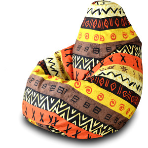 Кресло-мешок Груша Пазитифчик Африкан 04 мягкие кресла пазитифчик мешок мяч экокожа 90х90