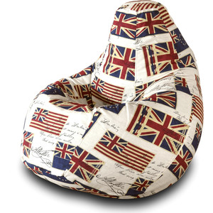 Кресло-мешок Груша Пазитифчик Флаг 03 мягкие кресла пазитифчик мешок мяч экокожа 90х90