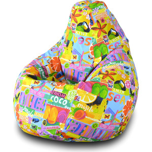 Кресло-мешок Груша Пазитифчик Экзотик 01 мягкие кресла пазитифчик мешок мяч экокожа 90х90
