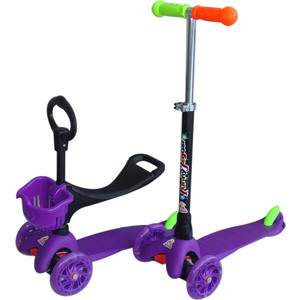 Самокат 3-х колесный Funny Scoo Neo (MS-920) фиолетовый самокат 3 х колесный foxx foxx самокат 3 х колесный fairy tale фиолетовый