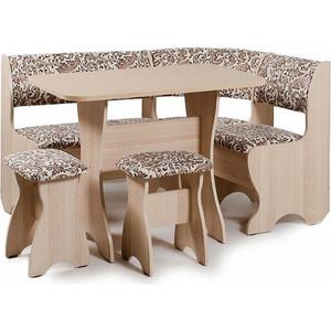 Набор мебели для кухни Бител Набор мебели для кухни ''ТЮЛЬПАН'' -ОДНОТОН (ясень, замша 623, ясень)