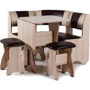 Набор мебели для кухни Бител Тюльпан мини - комби (ясень с-221 + с-101, ясень) 101 розовый тюльпан