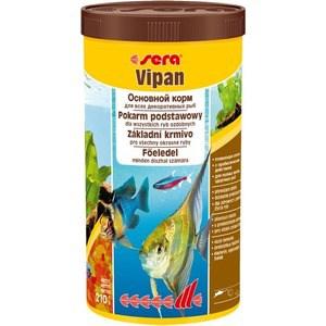 Корм SERA VIPAN Floating Flakes Staple Food for All Ornamental Fish плавающие хлопья для всех видов декоративных рыб 1л (210г) 1000g 98% fish collagen powder high purity for functional food