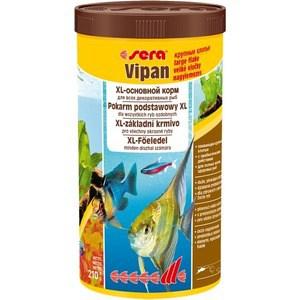 Корм SERA VIPAN XL Floating Flakes Staple Food for All Ornamental Fish крупные хлопья для всех видов декоративных рыб 1л (210г) корм tetra goldfish flakes complete food for all goldfish хлопья для всех видов золотых рыбок 1л 204355