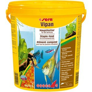 Корм SERA VIPAN XL Floating Flakes Staple Food for All Ornamental Fish крупные хлопья для всех видов декоративных рыб 21л (4кг) 1000g 98% fish collagen powder high purity for functional food