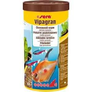 Корм SERA VIPAGRAN Soft Granules Staple Food мягкие гранулы для декоративных рыб 1л (300г) корм для рыб sera vipagran baby 50 мл 24 г