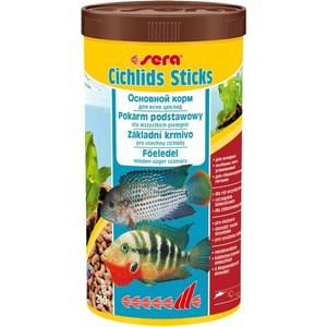 Корм SERA CICHLIDS STICKS Staple Food for All Cichlids палочки для всех видов цихлид 1л (210г) корм tetra cichlid xl flakes premium food for all cichlids крупные хлопья для всех видов цихлид 1л 204294
