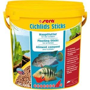 Корм SERA CICHLIDS STICKS Staple Food for All Cichlids палочки для всех видов цихлид 10л (2кг) корм tetra tetramin xl flakes complete food for larger tropical fish крупные хлопья для больших тропических рыб 10л 769946