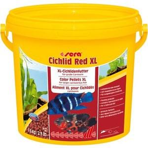 Корм SERA CICHLID RED XL Color Pellets XL for Larger Carnivorous Fish цветные гранулы для крупных плотоядных рыб 3,8л (1,9кг)