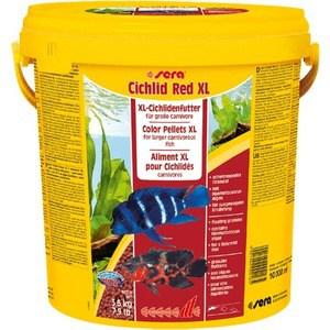 Корм SERA CICHLID RED XL Color Pellets XL for Larger Carnivorous Fish цветные гранулы для крупных плотоядных рыб 10л (3,6кг)