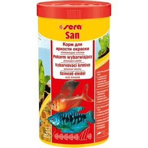 Корм SERA SAN Floating Flakes плавающие хлопья усиление окраски для рыб 1л (210г)