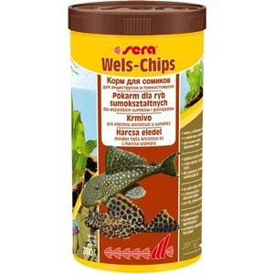 Корм SERA WELS CHIPS чипсы для лорикариевых сомов анциструсов и плекостомусов 1л (380г)