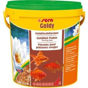 Корм SERA GOLDY Goldfish Flakes Floating Food плавающие хлопья для золотых рыбок 10л (2кг) корм tetra malawi flakes complete food for east african cichlids хлопья с водорослями для восточно африканских цихлид 1л