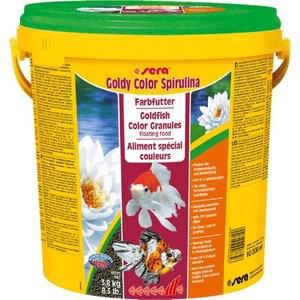 Корм SERA GOLDY Color Spirulina Goldfish Color Granules Floating Food плавающие гранулы усиление окраски для золотых рыбок 10л (3,8кг)