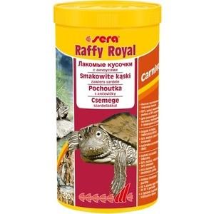 Корм SERA RAFFY Royal Carnivor Food with Anchovies for Turtles лакомые кусочки с анчоусами для плотоядных водных черепах 1л (220г)