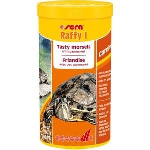 Корм SERA RAFFY I Carnivor Tasty Morsels with Gammarus for Turtles лакомые кусочки с гаммарусом для плотоядных водных черепах 1л (130г) tender morsels