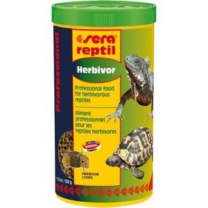 Корм SERA REPTIL Professional Herbivor Professional Food for Herbivorous Reptiles гранулы для растительноядных рептилий 1л (330г) корм tetra tetramin xl flakes complete food for larger tropical fish крупные хлопья для больших тропических рыб 10л 769946