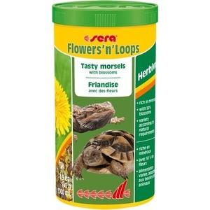 Корм SERA FLOWERS 'n' LOOPS Herbivor Tasty Morsels with Blossoms вкусные кусочки с сакурой для растительноядных рептилий 1л (140г)