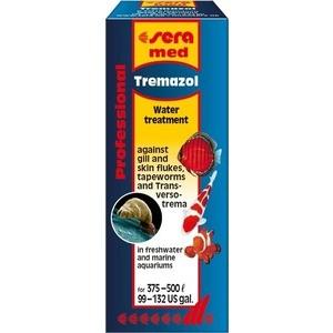 Средство SERA MED TREMAZOL Water Treatment Against Gill & Skin Flukes, Tapeworm & Transversotrema против червей паразитов для рыб 25мл