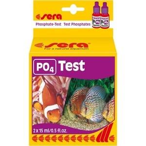 Тест SERA PO4-Test Phosphate-Test на содержание фосфатов для воды в аквариуме 15мл тест sera ph тест для воды 15 мл