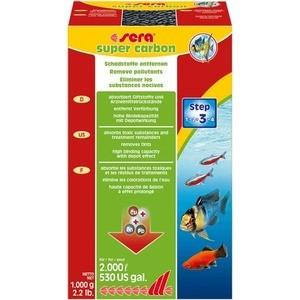 Наполнитель для фильтра SERA SUPER CARBON Remove Pollutants активированный уголь для удаления загрязняющих веществ из аквариумной воды 1кг
