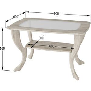 Стол журнальный Калифорния мебель Маэстро со стеклом СЖС-01 Дуб стол журнальный калифорния мебель бруклин венге
