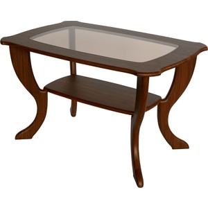 Стол журнальный Калифорния мебель Маэстро со стеклом СЖС-01 Орех стол журнальный калифорния мебель бруклин венге
