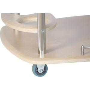 Стол сервировочный Калифорния мебель Банкет Дуб беленый