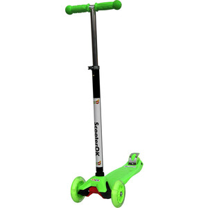 Самокат 3-х колесный BabyHit ScooterOK Plus зеленый