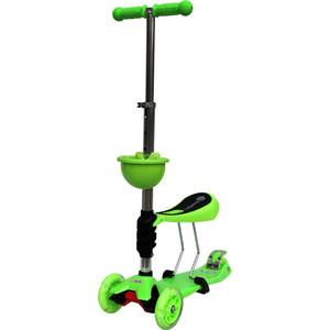 Самокат 3-х колесный BabyHit ScooterOK Tolocar зеленый самокат 3 х колесный 21st scooter 21st scooter самокат 3 х колесный maxi scooter зеленый