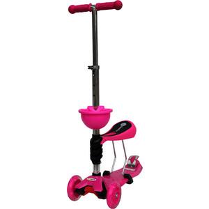 Самокат 3-х колесный BabyHit ScooterOK Tolocar розовый ходунки babyhit action розовый