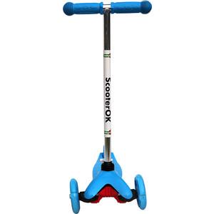 Самокат 3-х колесный BabyHit ScooterOK синий самокат 3 х колесный 21st scooter 21st scooter самокат 3 х колесный maxi scooter с сиденьем синий
