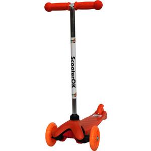 Самокат 3-х колесный BabyHit ScooterOK оранжевый babyhit babyhit стульчик для кормления fancy оранжевый