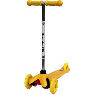 Самокат 3-х колесный BabyHit ScooterOK желтый самокат 3 х колесный babyhit scooterok tolocar красный