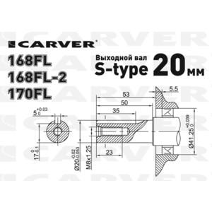 Двигатель бензиновый Carver 168FL-2 (без выключателя) от ТЕХПОРТ