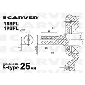 Двигатель бензиновый Carver 190FL от ТЕХПОРТ
