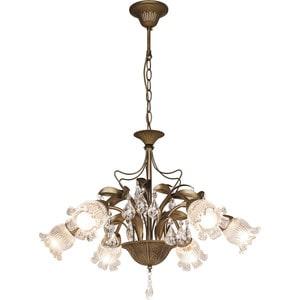 Фотография товара потолочная люстра Silver Light серия Semiramida, цвет бронза 6XE14X60W 517.53.6 (659258)