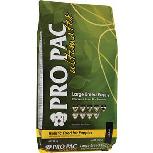 Сухой корм PRO PAC Ultimates Large Breed Puppy Holistic Chicken & Brown Rice Formula с курицей и коричневым рисом для щенков крупных пород 12кг pro pac dog large breed