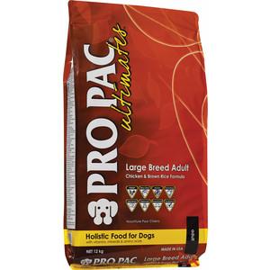 Сухой корм PRO PAC Ultimates Large Breed Adult Holistic Chicken & Brown Rice Formula с курицей и коричневым рисом для собак крупных пород 12кг pro pac dog large breed
