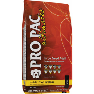 Сухой корм PRO PAC Ultimates Large Breed Adult Holistic Chicken & Brown Rice Formula с курицей и коричневым рисом для собак крупных пород 20кг сухой корм primordial grain free holistic dog adult all breed with buffalo