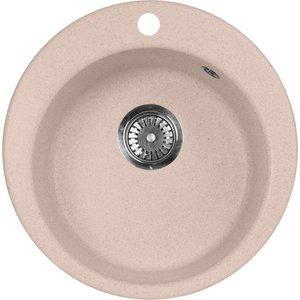 Кухонная мойка AquaGranitEx M-05 475х475 розовый (M-05 (315))