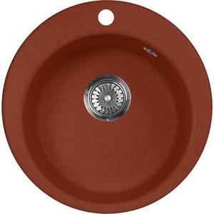 Кухонная мойка AquaGranitEx M-05 470х470 красный марс (M-05 (334)) кухонная мойка aquagranitex m 05 470х470 зеленый m 05 305
