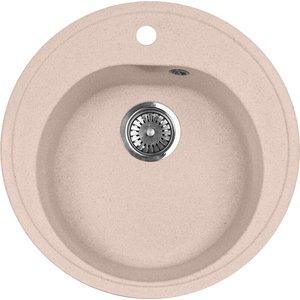 Кухонная мойка AquaGranitEx M-08 505х505 розовый (M-08 (315)) babyonlinedress розовый m