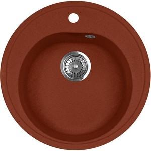 все цены на Кухонная мойка AquaGranitEx M-08 505х505 красный марс (M-08 (334))