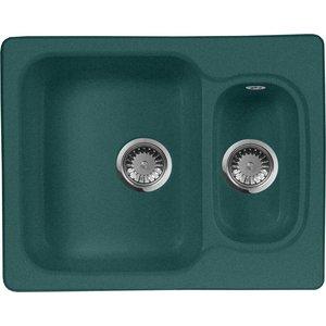 Кухонная мойка AquaGranitEx M-09 610х495 зеленый (M-09 (305)) 114 0175 358 мойка кухонная rog 610 41 сахара ronda franke