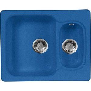 Кухонная мойка AquaGranitEx M-09 610х495 синий (M-09 (323)) мойка кухонная aquagranitex m 17 420х485 серый m 17 310
