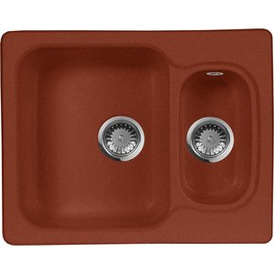все цены на Кухонная мойка AquaGranitEx M-09 610х495 красный марс (M-09 (334))